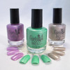 Fall 2013 Collection: Inspired by Family Guy | GIRLY BITS COSMETICS (l to r) Bird Is The Word, What The Deuce?, Giggity Giggity Goo