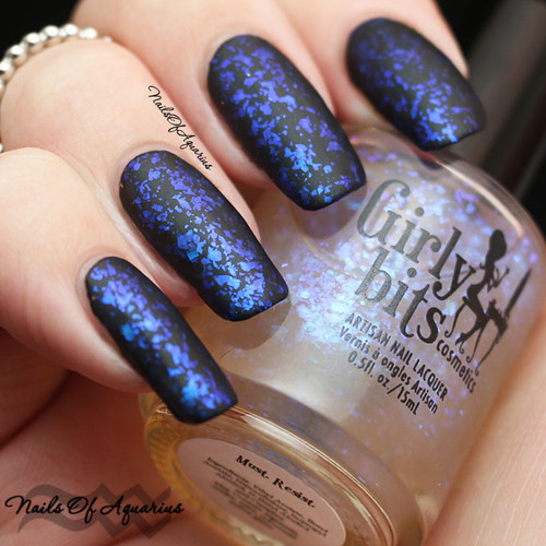 Swatch courtesy of Nails of Aquarius | GIRLY BITS COSMETICS Must. Resist.