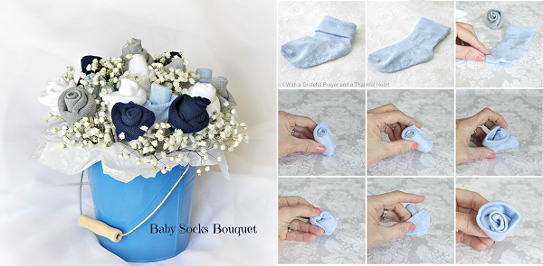 Diy baby socks bouquet blank clothing negle Image collections