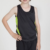 kids quick dry contrast team singlets