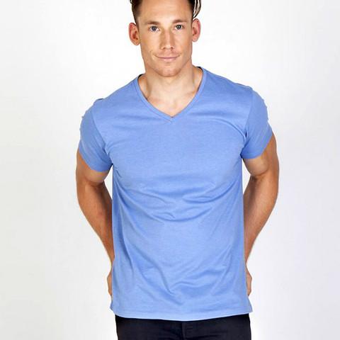 mens v-neck marl tshirts   wholesale bulk