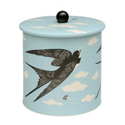 JOHN HANNA | bird biscuit tin barrel | home ware storage tin