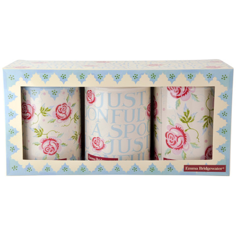 ROSE & BEE | set of 3 storage tin cannisters