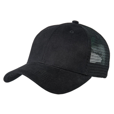 black premium plain trucker hats online