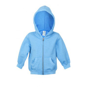 plain sapphire heather zip hoodies | kids