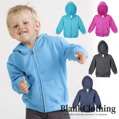 wholesale lightweight heather zip hoodie kids jacket