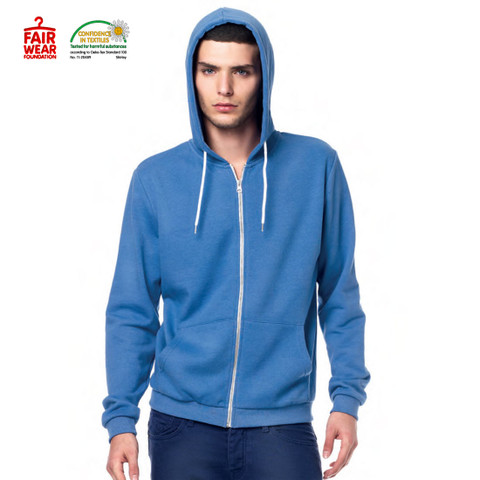 blank fair trade zip hoodie | buy bulk
