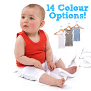 wholesale plain baby cotton rib singlets