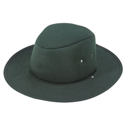 childrens plain school hat | bottle green