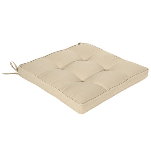 plain outdoor furniture cushions online | sandstone | Bossima Cushion