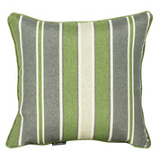 outdoor scatter cushions | green stripes