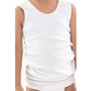 kids 100% cotton rib singlet | boys