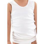 kids 100% cotton rib singlet | boys