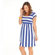 striped maternity nursing dress | pregnancy clothing