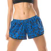 leopard compression shorts | gym wear online