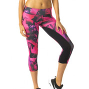 quick dry hot pink marble leggings | workout clothing