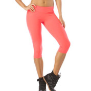 orange compression leggings | gym wear | made in brazil