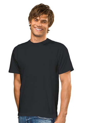 Wholesale Plain Stedman Men's Tee | Black