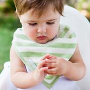 100% organic cotton baby bandana bibs