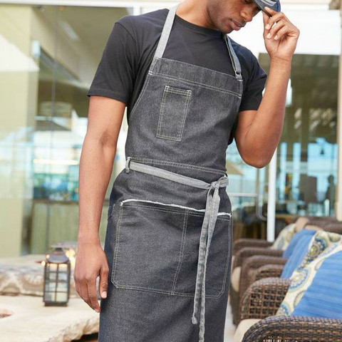 urban plain denim full bib aprons online | blank clothing
