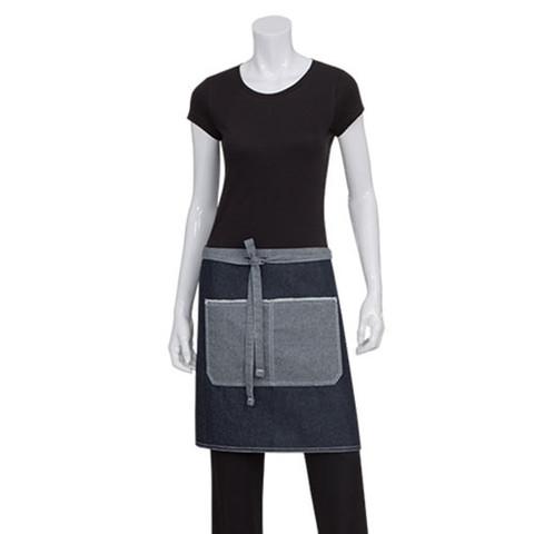 denim half waist aprons online | blue apron