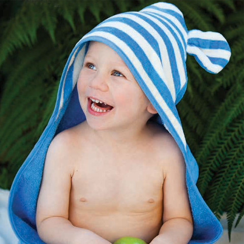 organic cotton baby animal hooded towel