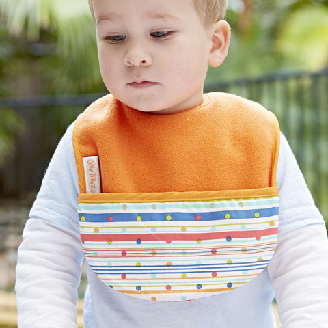 silly billyz | fleece baby bib with pocket