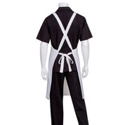 plain crossover back bib aprons online