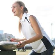 wholesale sleeveless contrast polo shirt online