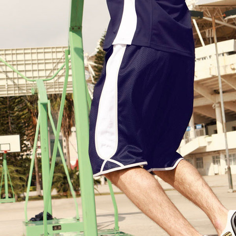 wholesale contrast basketball shorts