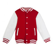 kids & babies varsity jackets | red + white