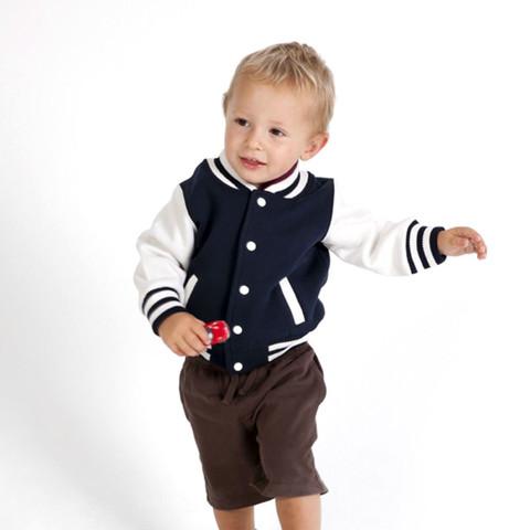 wholesale kids & babies contrast varsity jackets online