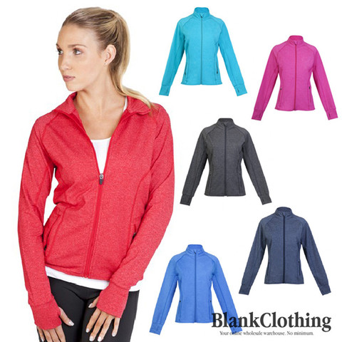 plain stretchy heather jackets online | gym & yoga