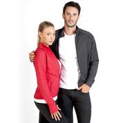 mens stretch heather jacket | gym & sports wear