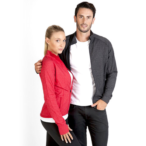 mens stretch heather jacket | gym & sports wear