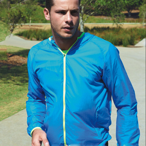 wet weather running jacket | foldaway bag