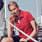 ladies contrast trim polo | online wholesale supplier