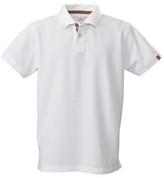 bulk buy plain contrast polos | white