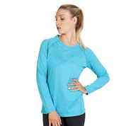 wholesale ladies heather long sleeve tshirt online