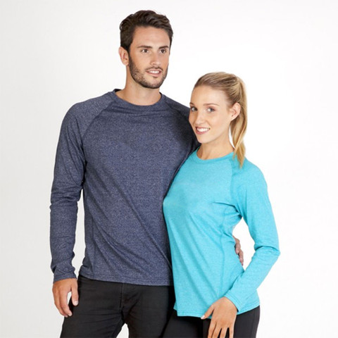 wholesale heather long sleeve tshirt online