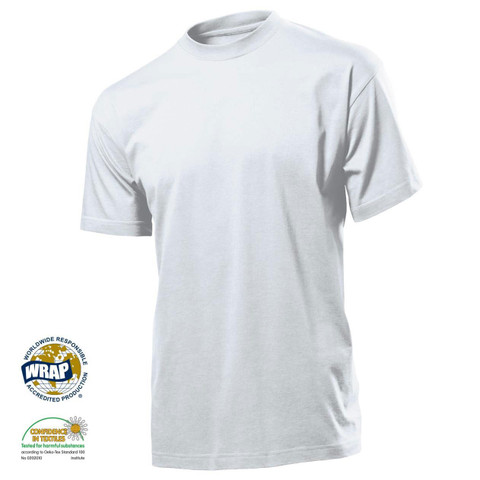 Mens Wholesale Eco Plain T-shirts | White