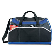 wholesale sports duffle bags | black + royal