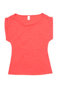 Blank Cotton Women TShirts Online | Coral Red