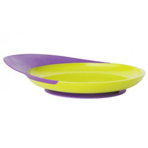 Boon kids meal catch plate | kiwi+grape
