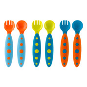 MODWARE | Boon toddler cutlery set | blue tangerine set