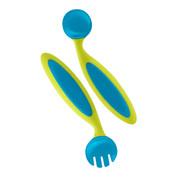 Boon kids adjustable fork & spoon   kiwi