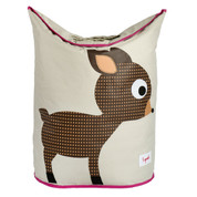 nursery decor laundry hamper | pink deer