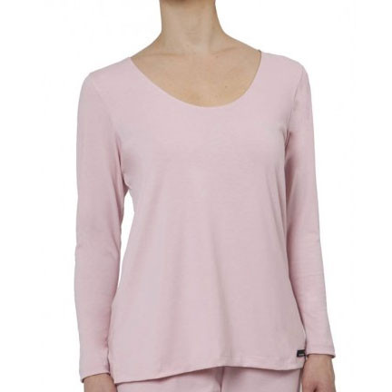 womens long sleeve pajamas top | rose