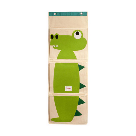 3 Sprouts | kids wall organiser | crocodile