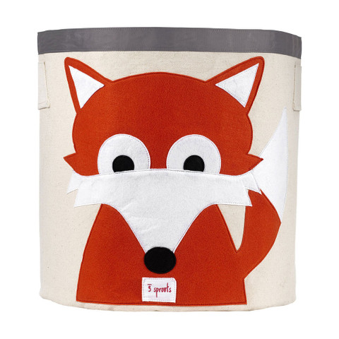 kids storage bin decor online | orange fox